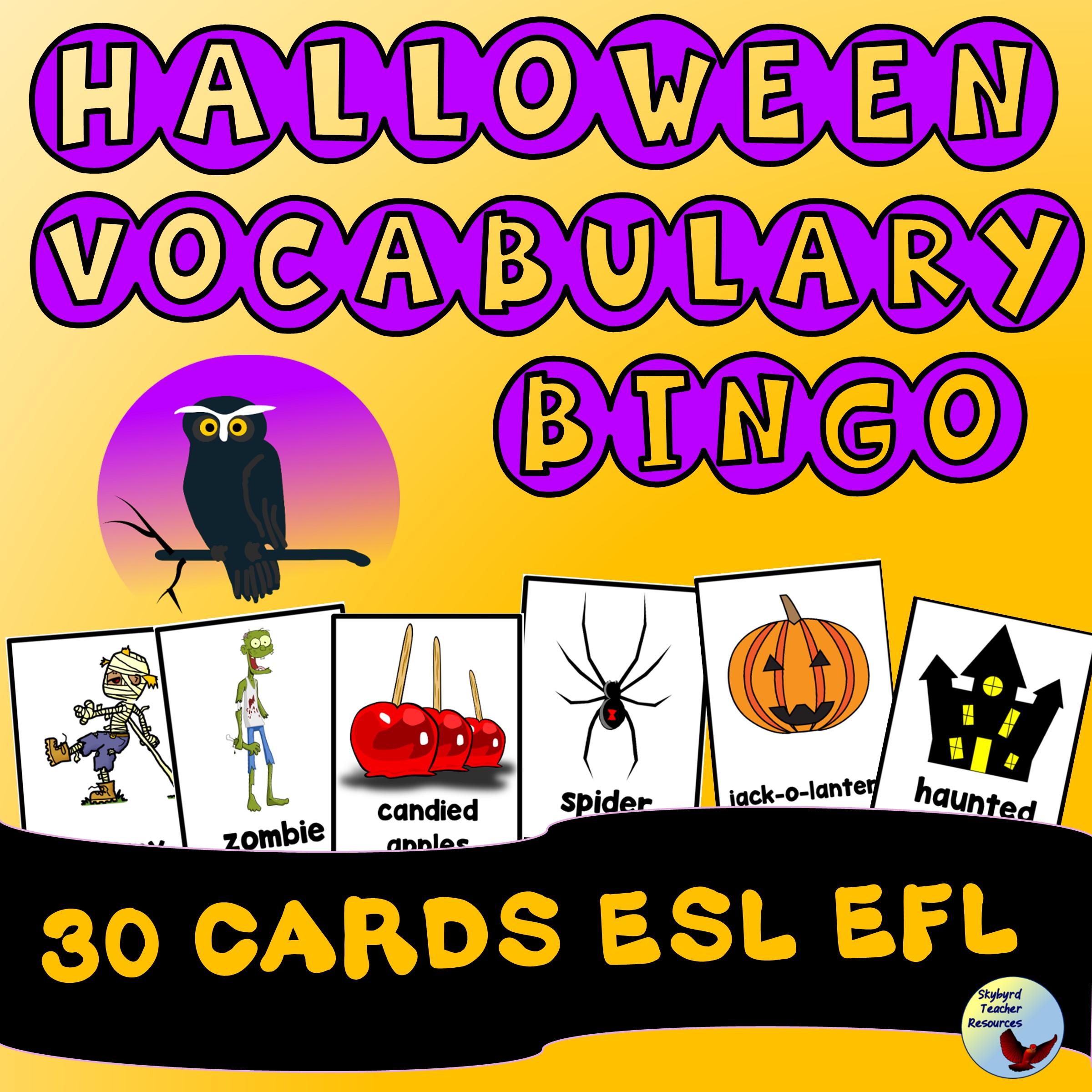 ESL Halloween Vocabulary BINGO