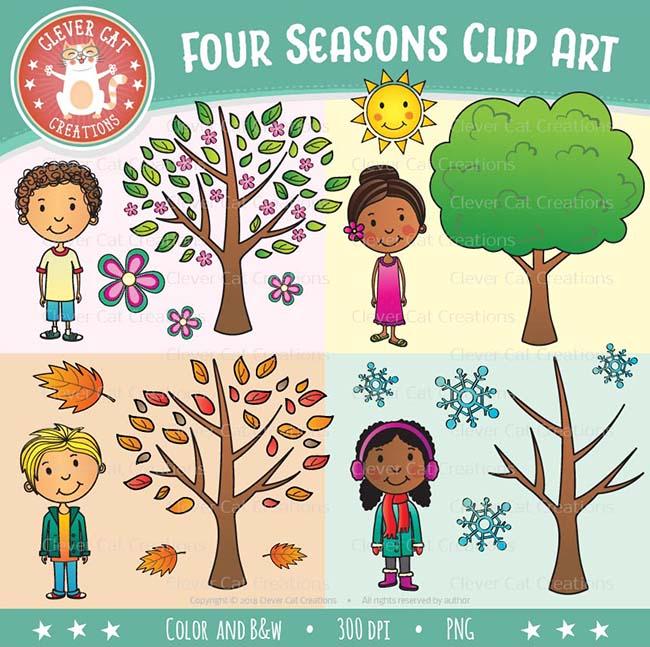 Four Seasons Clip Art