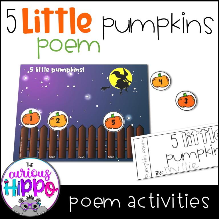 5 Little Pumpkins Poem Activities