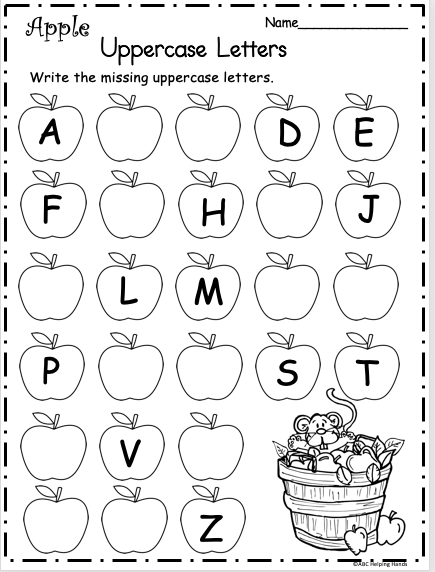 Free Kindergarten Letter Writing Worksheet For Fall Apples - Made By  Teachers