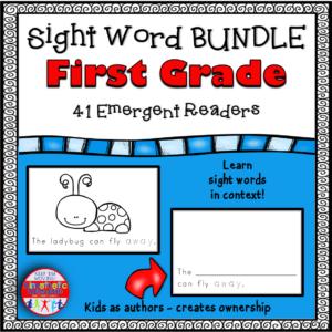 Sight Word Emergent Reader Books First Grade