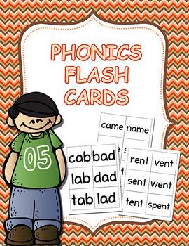 Phonics Flash Cards CVC Digraph Blends