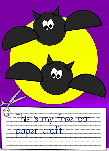 My Free Bat Paper Craft for October