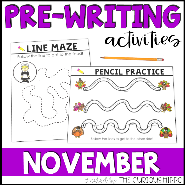 Pre-writing Activities for November