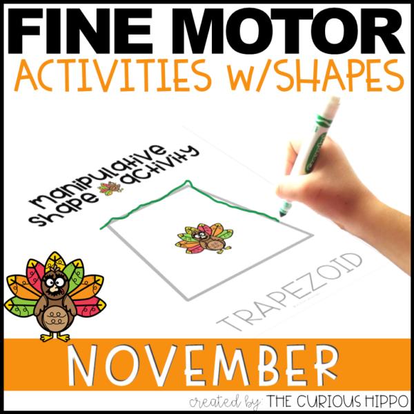 Preschool Shapes Activities - Thanksgiving
