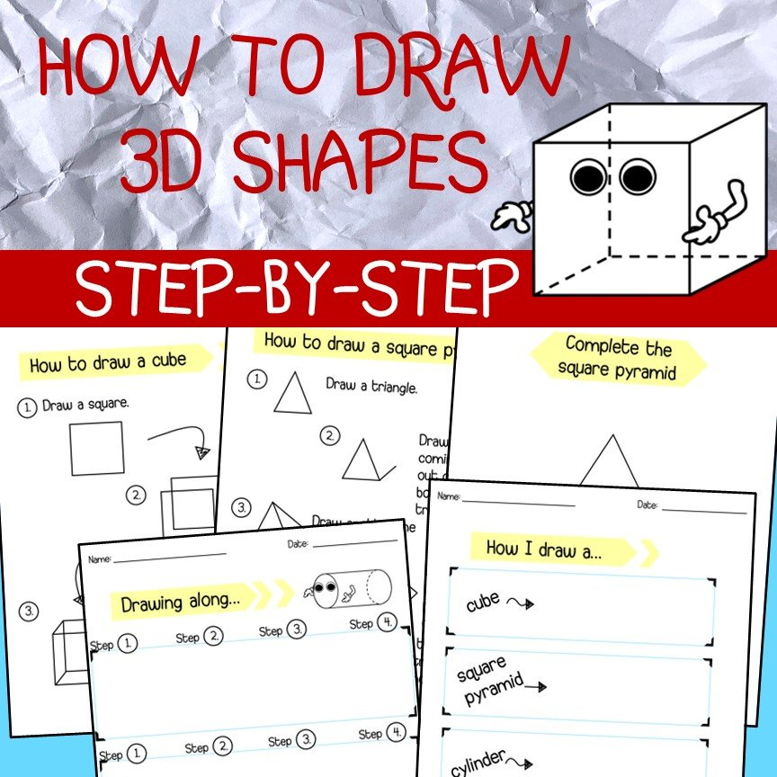 How To Draw 3d Shapes Made By Teachers