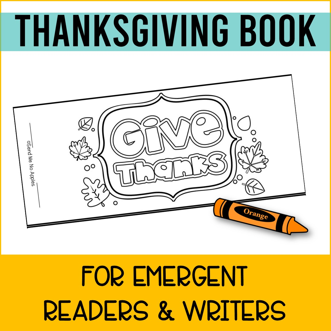 Thanksgiving Mini Book for Emergent Readers with Predictive Text