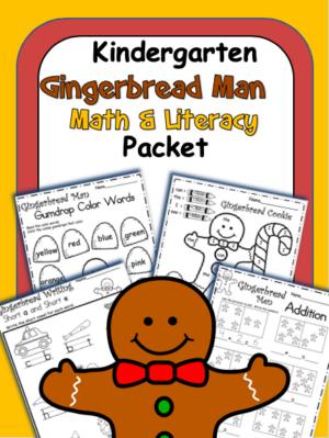 Gingerbread man Math Literacy Kindergarten Skill Book