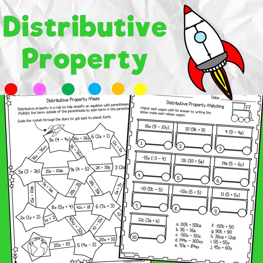Distributive Property Worksheets