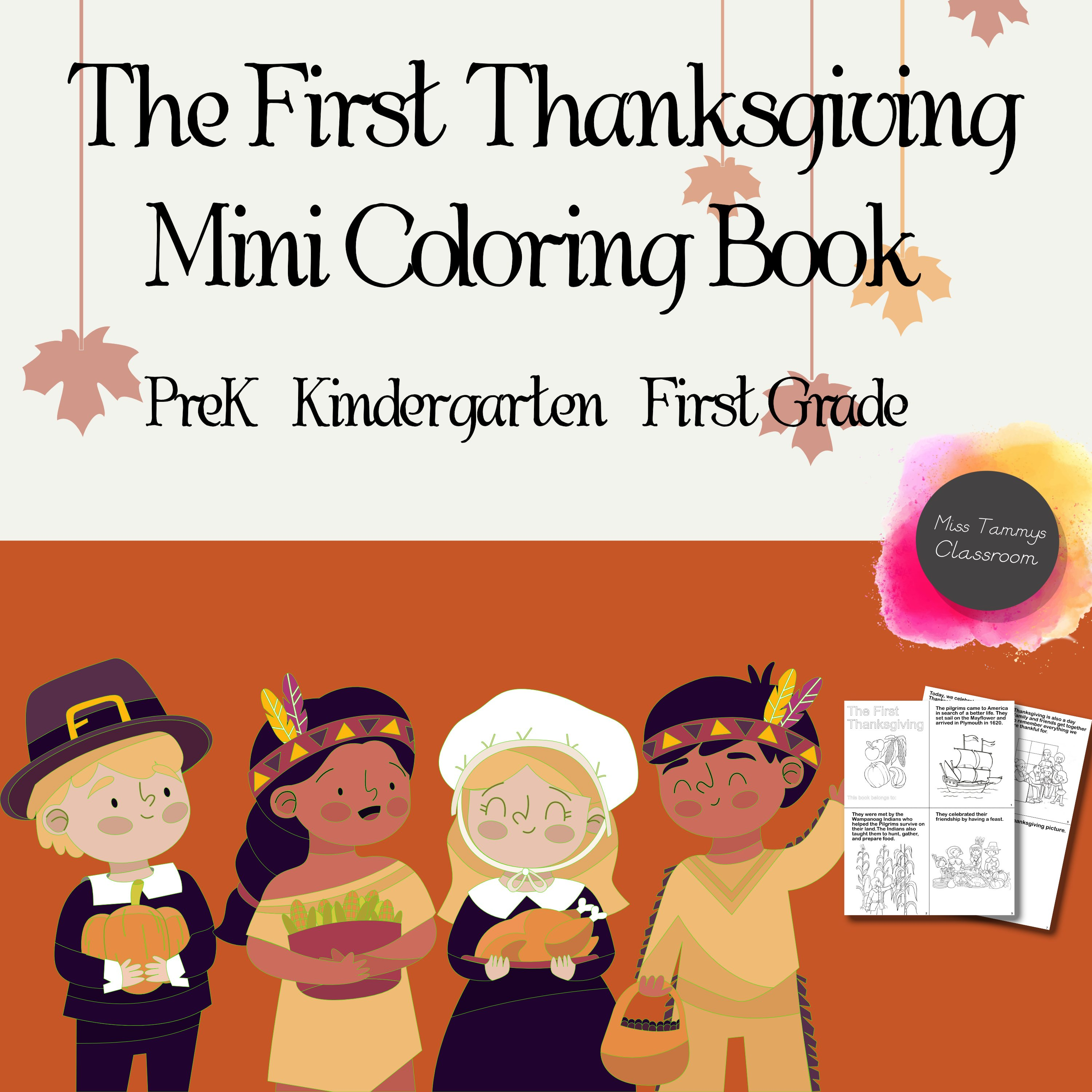 Thanksgiving Mini Book - The First Thanksgiving