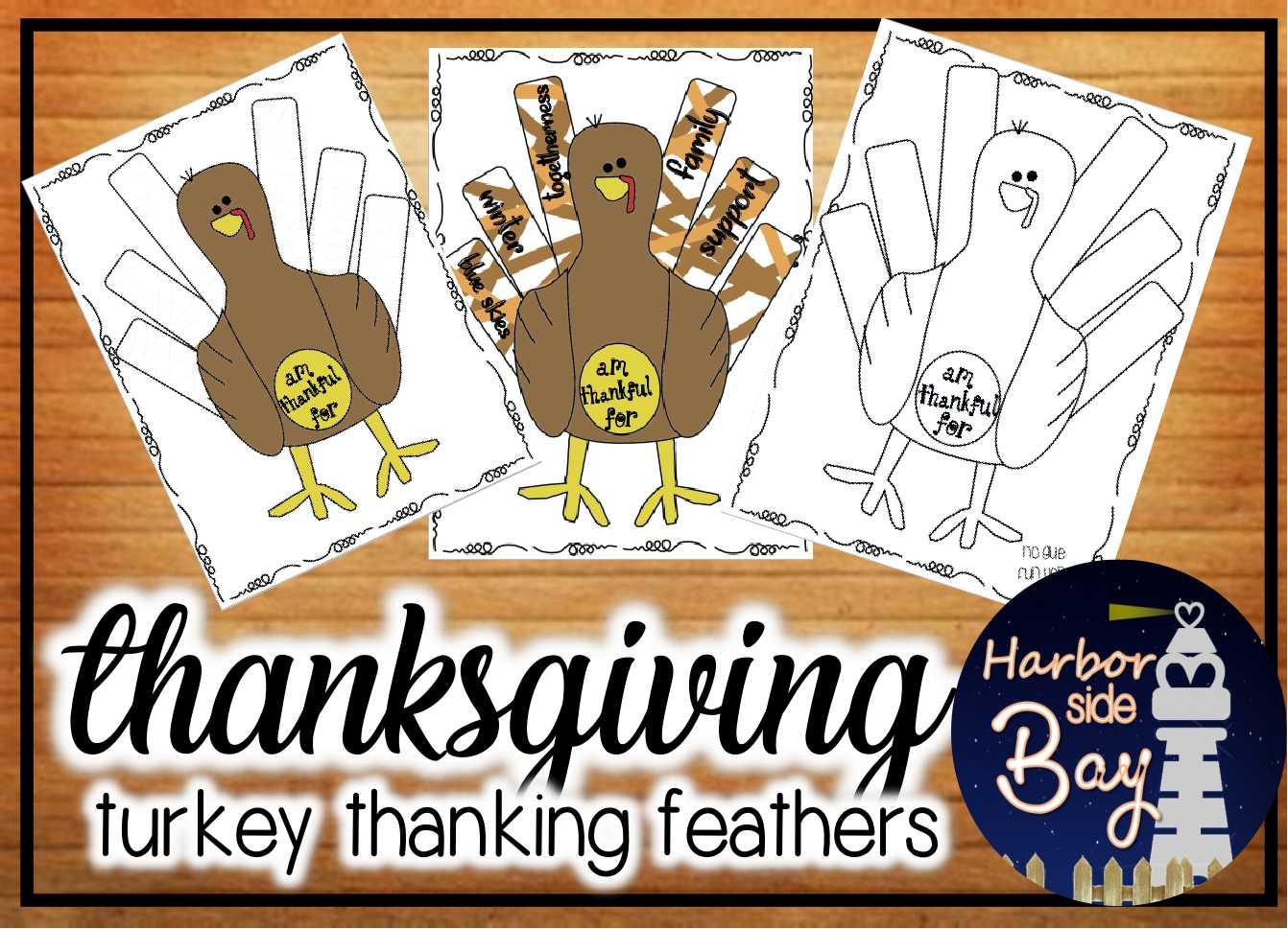 Thanksgiving Accion de Gracias Thankful Turkey