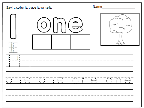 Number Words Worksheets (1-10) - Made By Teachers