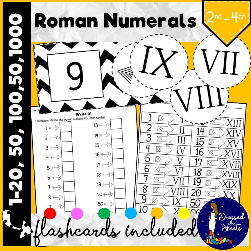 1 20 to numerals roman Roman numerals