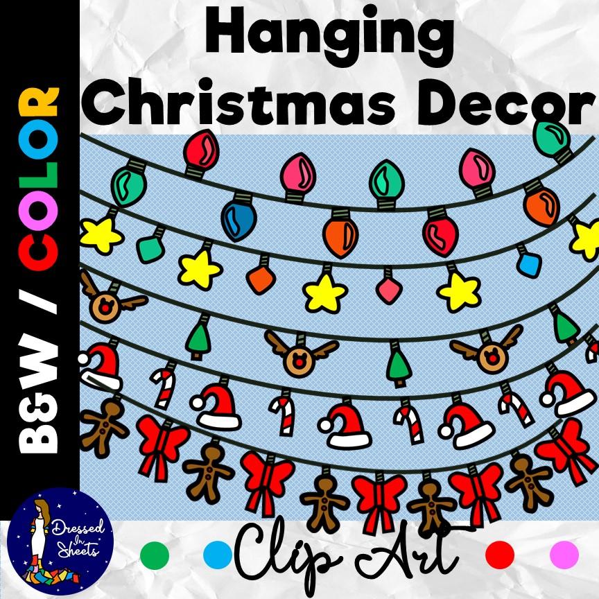 Hanging Christmas Decorations Clip Art