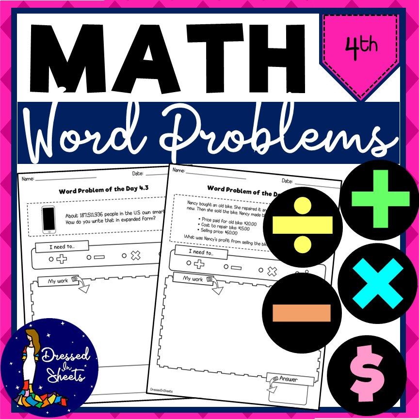4th Grade Word Problem Math Worksheets