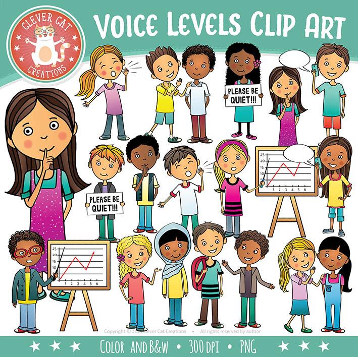Voice / Noise Levels Clip Art