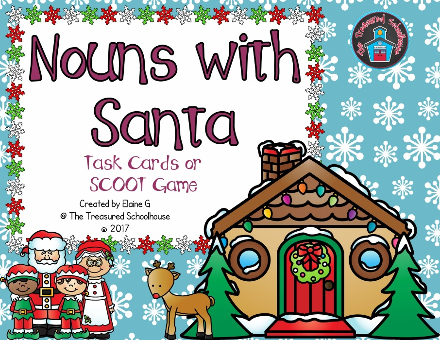 Nouns with Santa Task Cards or SCOOT Game