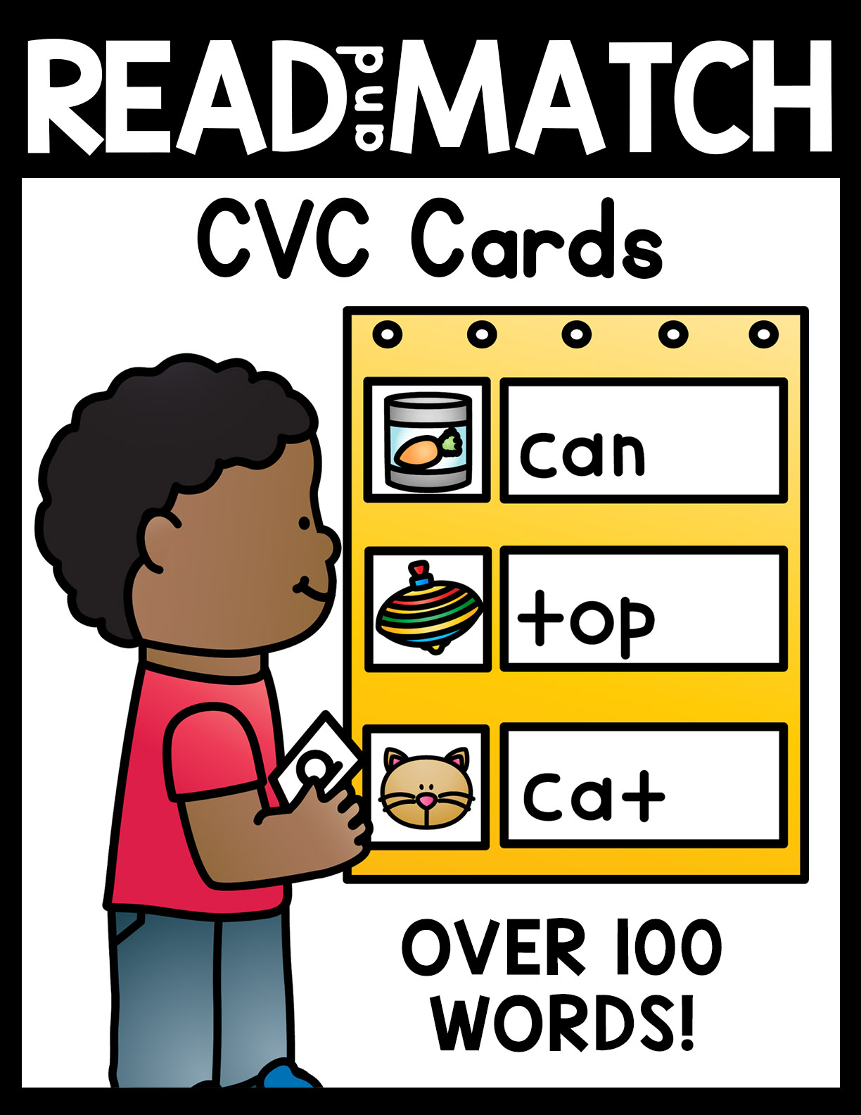 Read and Match CVC Cards for Kindergarten