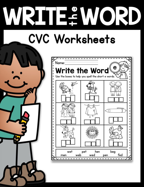 Kindergarten CVC Worksheets