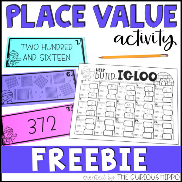 Place Value Math Freebie Worksheets First Grade