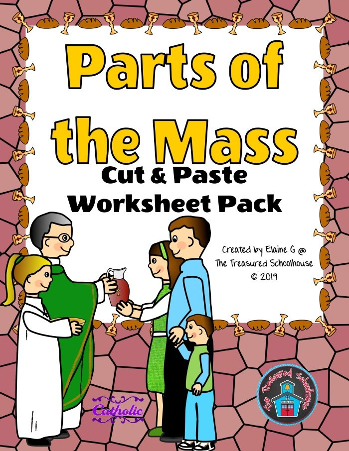 Parts of the Mass Cut & Paste Worksheet Pack