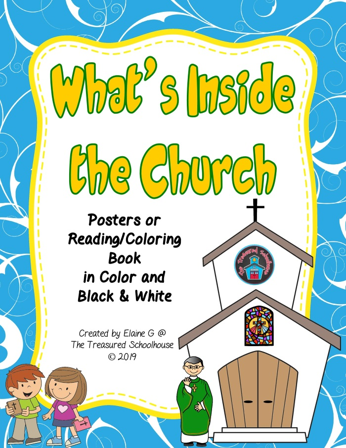 Inside the Church Posters and Coloring Pages
