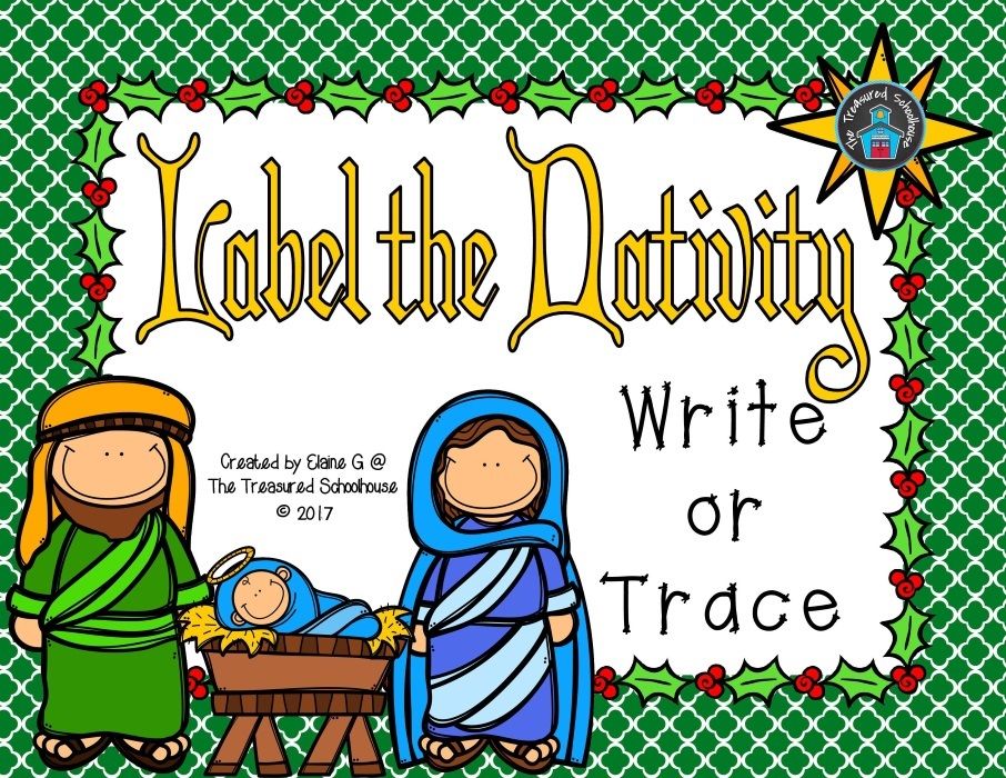 Label the Christmas Nativity Write or Trace