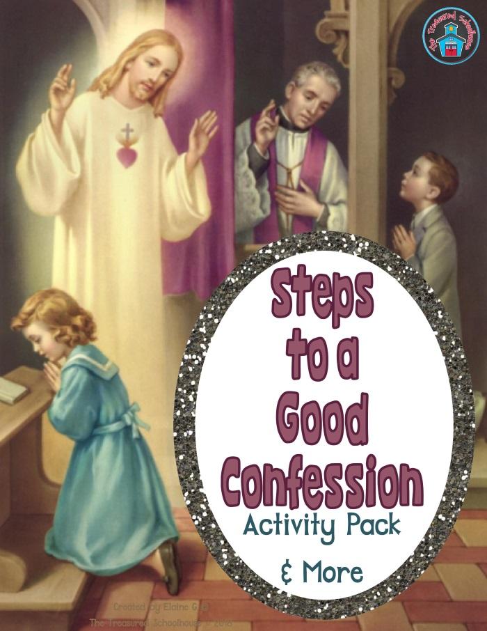 Steps to Confession Catholic Children's Printable