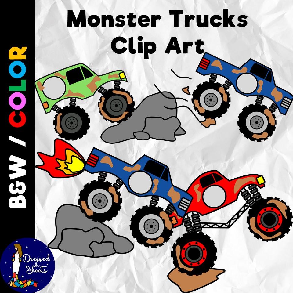 Monster Truck Clip Art Madebyteachers