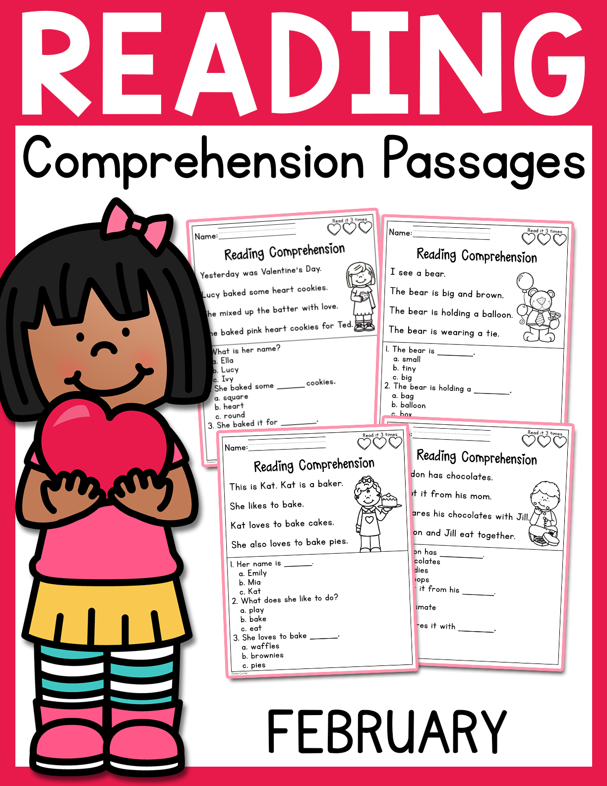 - February Reading Comprehension Passages - Madebyteachers