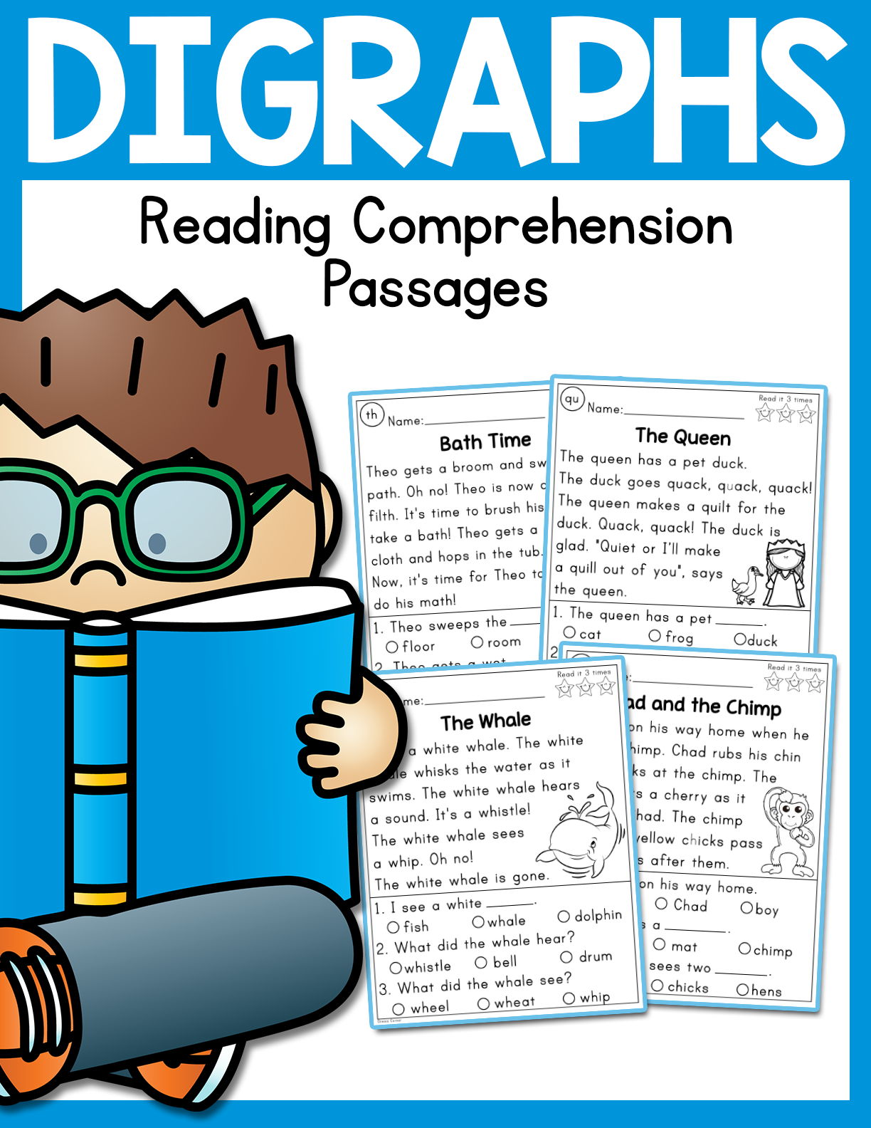 - Digraphs Reading Comprehension Passages - Madebyteachers