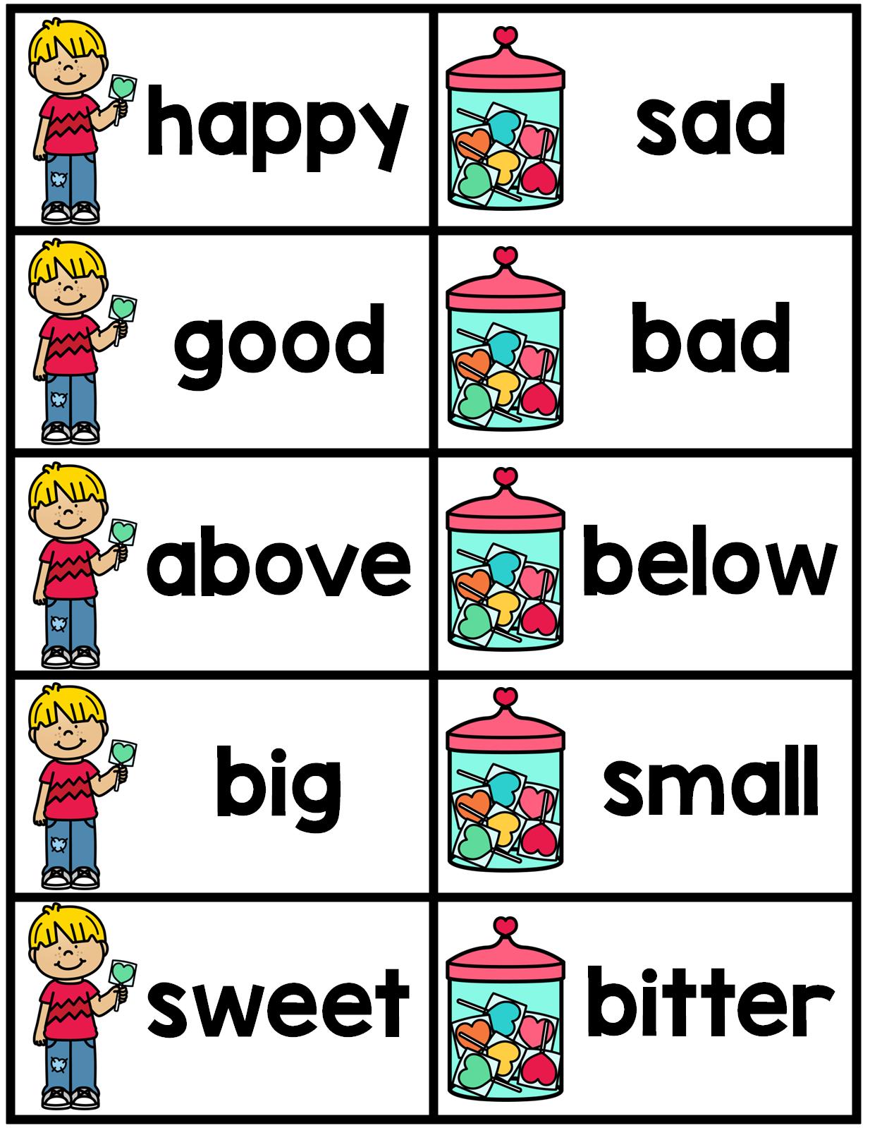 Synonym and Antonym Matching Cards | February LITERACY