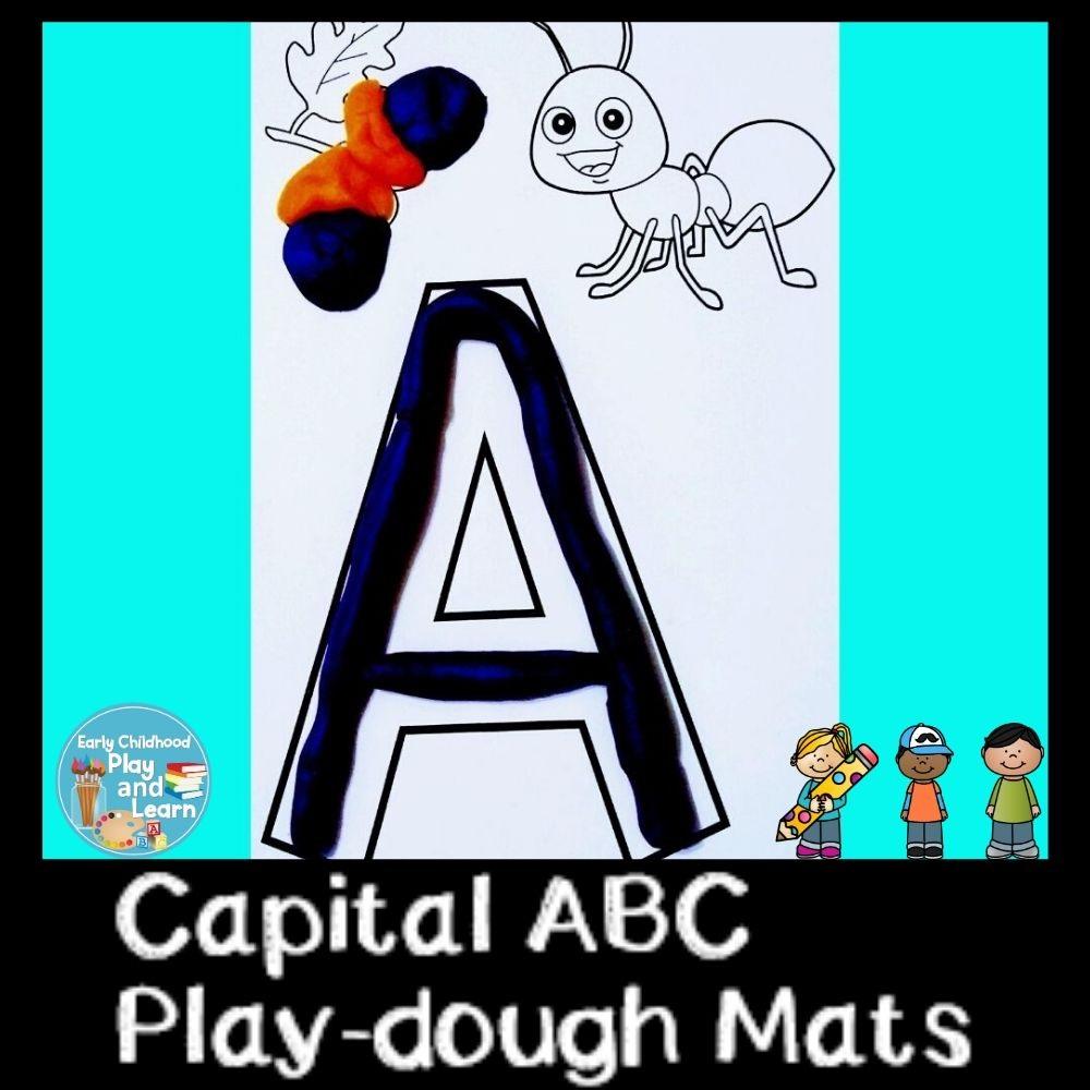 Beginning Sounds Uppercase Alphabet Play-dough Mats