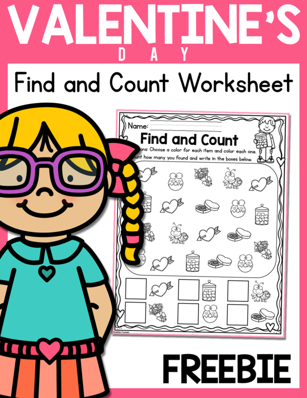 Free February Find and Count Math