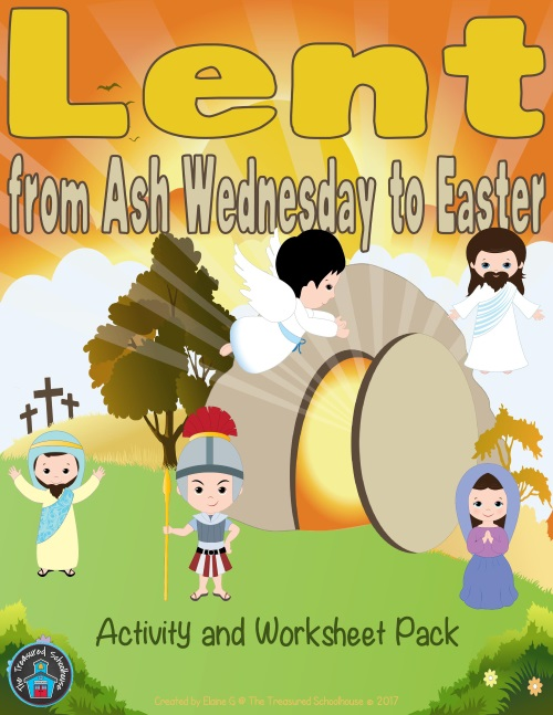 Lent Ash Wednesday Easter Worksheets
