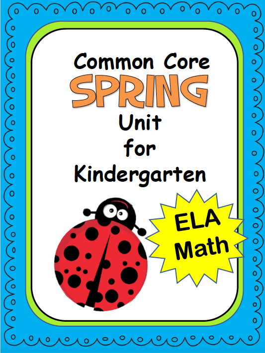 Spring Kindergarten Activities and Worksheets