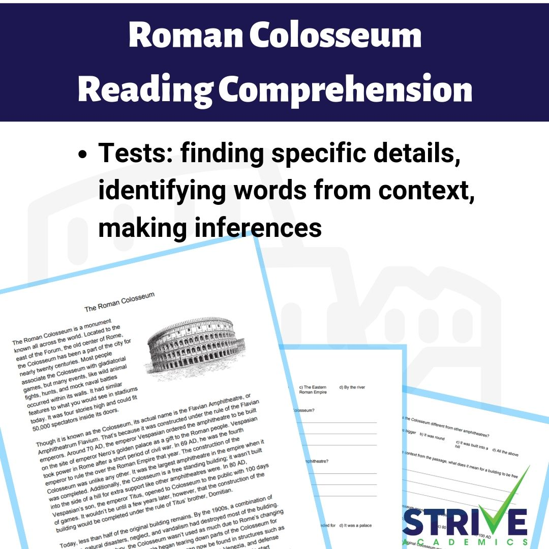 - This Product Includes One Reading Comprehension Passage On The