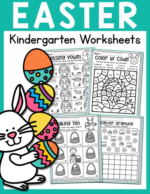 Easter Kindergarten Worksheets for April