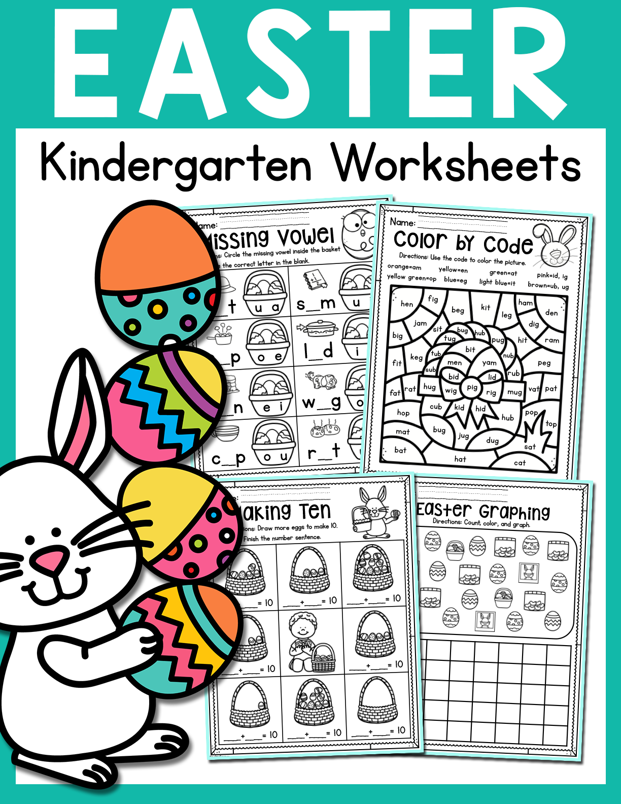 Easter Kindergarten Worksheets for April