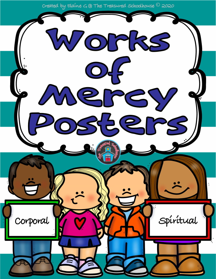 Works of Mercy Posters in Color and Black & White