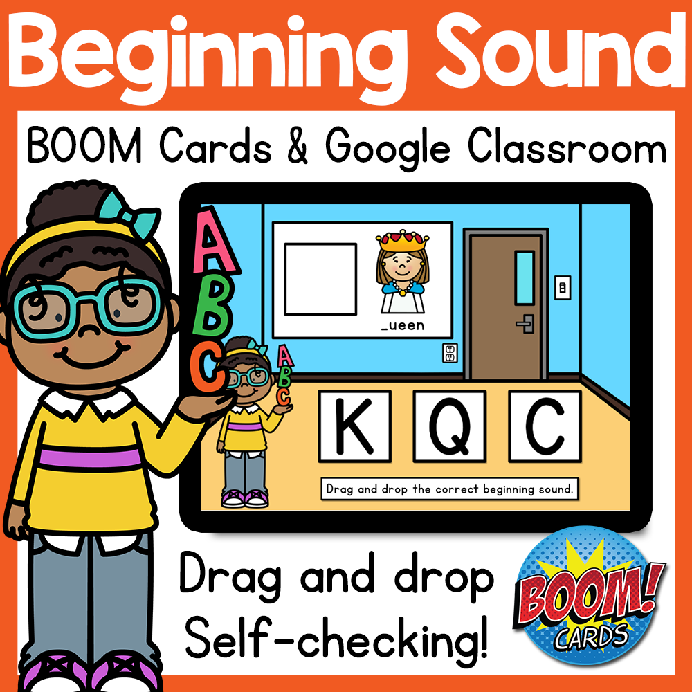 Alphabet Beginning Sound BOOM Cards & Google Classroom Distance Learning