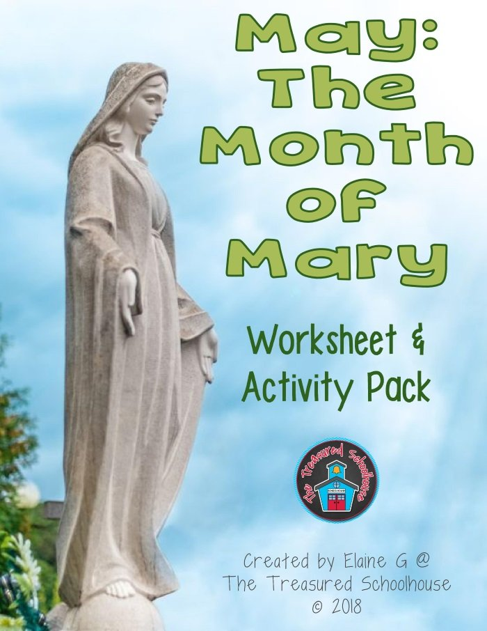 May the Month of Mary Worksheet and Activity Pack