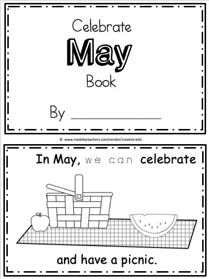 Free May Mini Book Printable