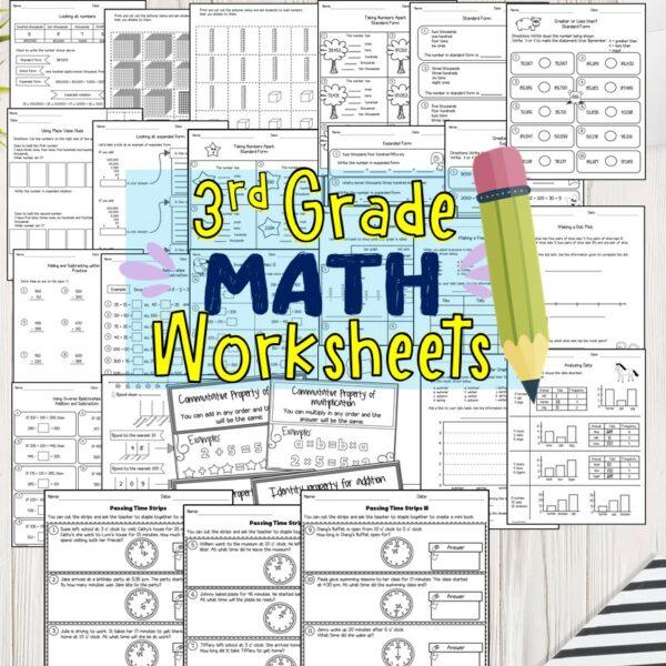 3rd Grade Math Worksheets PDF