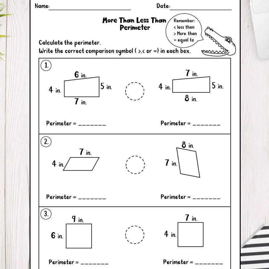 3rd Grade Math Worksheets PDF - Madebyteachers