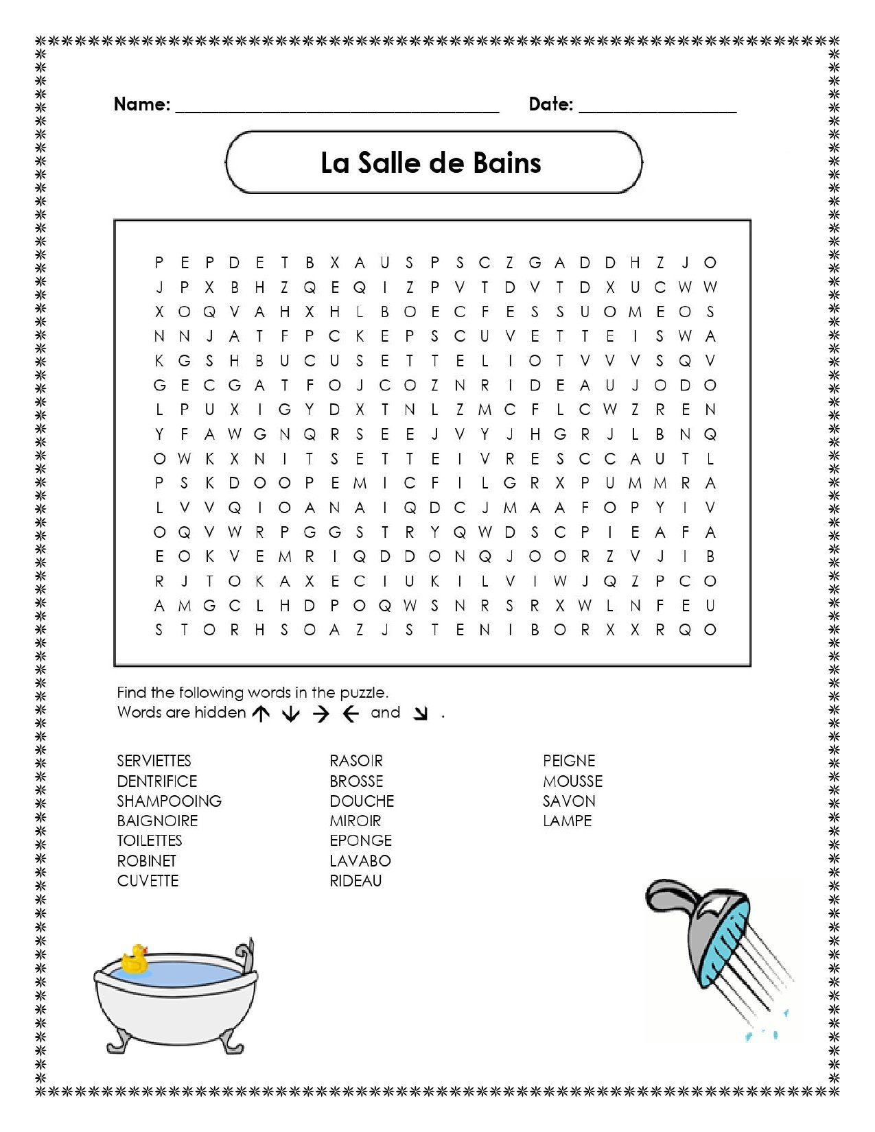 Perfect What Does Salle De Bains In English