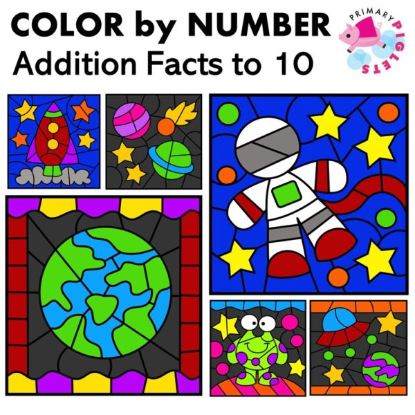 Addition Color by Number Addition Sums to 10