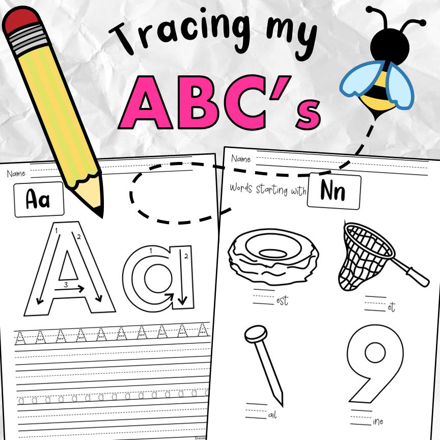 Tracing My ABC's Workbook PDF