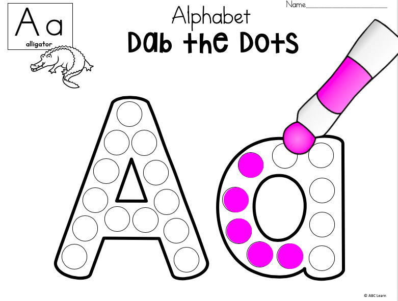 Free Dab The Alphabet Worksheets - Letter A - Made By Teachers