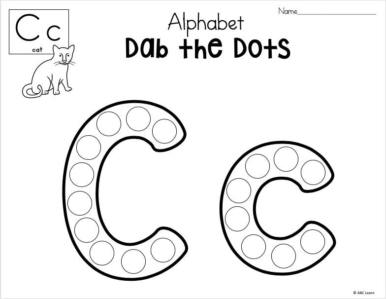 Dab The Alphabet Worksheets Letter C Madebyteachers